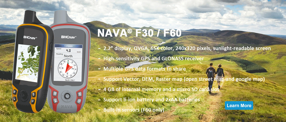 NAVA F30 and F60 Handheld GPS